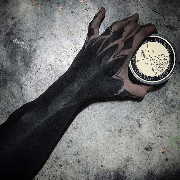 Blackout Tattoos, An Alternative To Laser Tattoo Removal? I Hope Not #singapore #tattoos #trend #inspiration #design #dark #black #gothic #goth