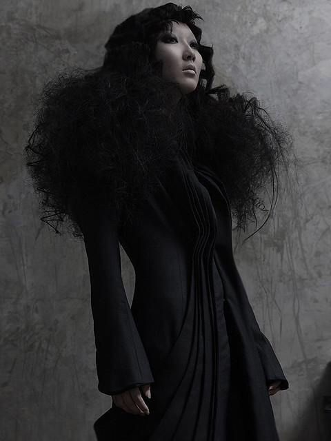 Michel Berandi Designer Flower Coat Couture Presentation Paris High End Art Fashion Excercise #8