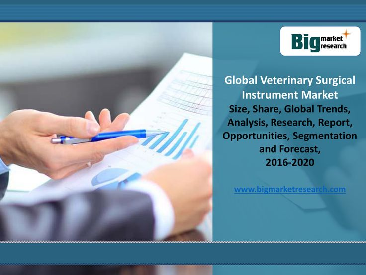 Veterinary Surgical Instrument market-Research Report, Viewpoint and Recommended Strategies. Market Research report, Global Veterinary Surgical Instrument Market Outlook 2016-2021 provides detailed market and segment level data on the Global and Chinese consumption of Veterinary Surgical Instrument.   Report Details@ http://www.bigmarketresearch.com/global-veterinary-surgical-instrument-outlook-2016-2021-market