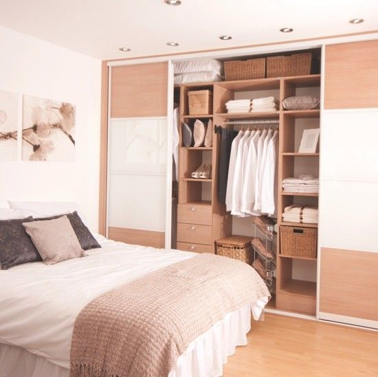 full wall closet....Tidy Bedrooms® neutral bedroom wardrobe | Bedroom ideas | PHOTO GALLERY | Housetohome.co.uk