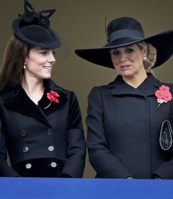 Royals attend the annual Remembrance Sunday Service - November 8, 2015