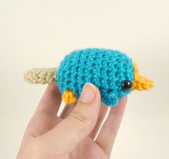 Mini Perry the Platypus - Made to Order - Crocheted Fan Plushie