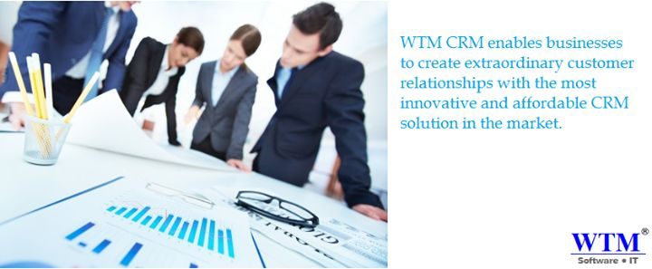 WTM  is a global software development company that specializes in cost-effective Business Software Solutions like ERP, CRM  and HRM software. visit here: http://www.wtmit.com/crm