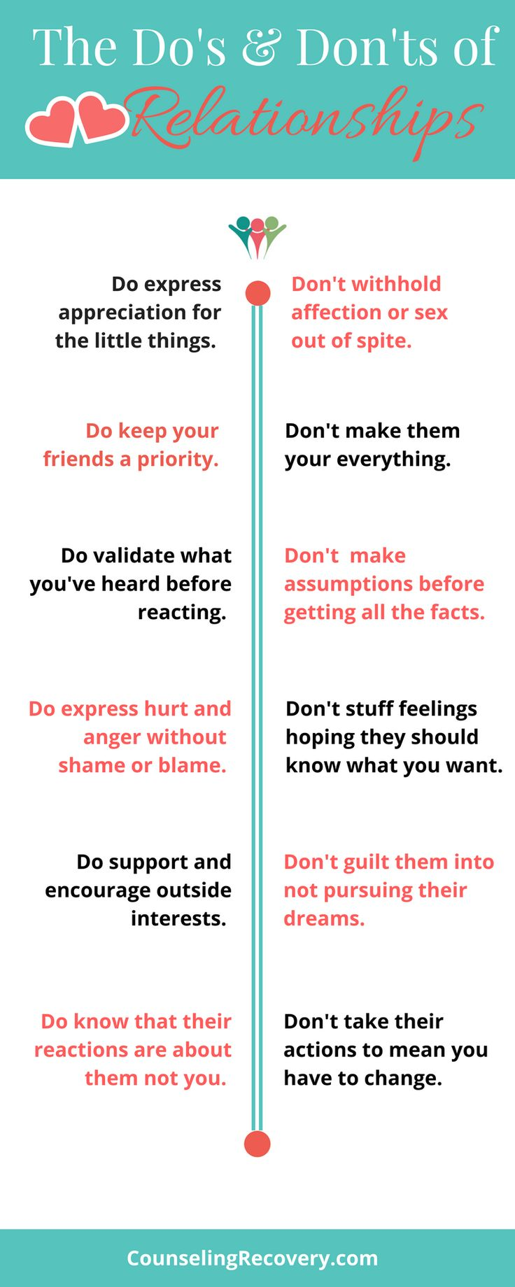 Healthy relationships take work but here are some helpful tips to keep you on the right path. Good communication and self-care are important foundations. Click the image to read more.