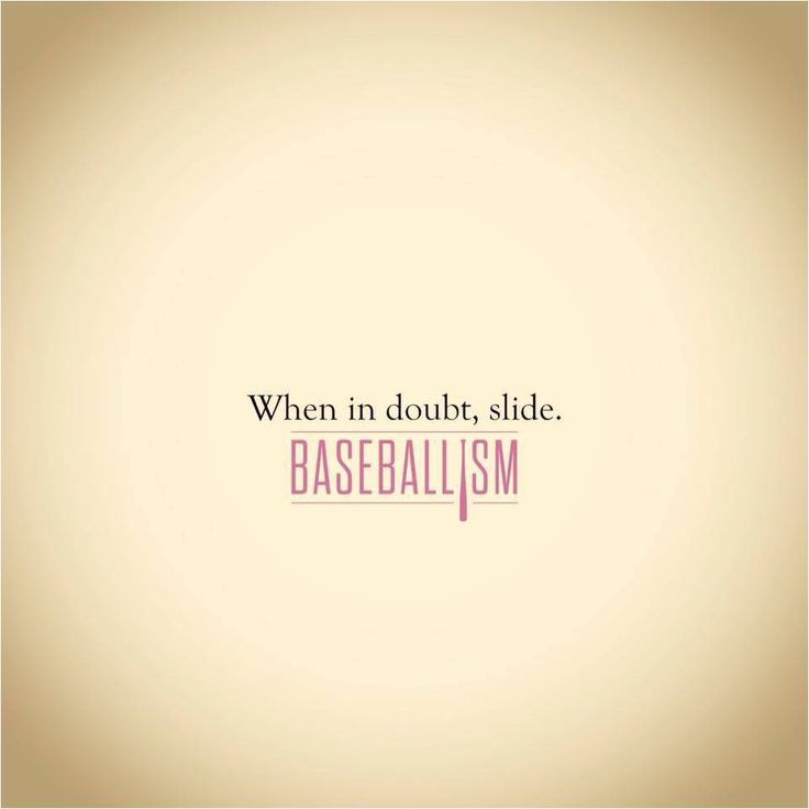 When in doubt, slide - Baseballism