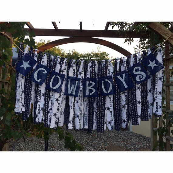 Dallas Cowboys NFL Burlap Banner Football Party by QueensBanners