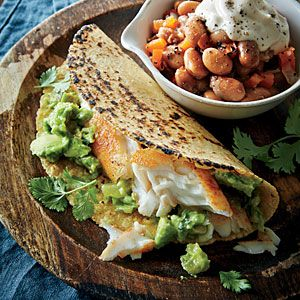 Smoky Tilapia Tacos | Cooking Light #myplate #protein #fruit