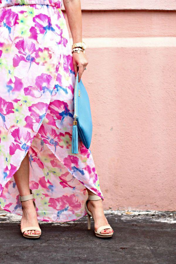 Tulip Hem Maxi and Calvin Klein Heels