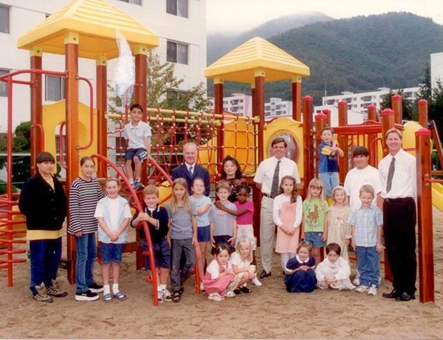 18 years ago.  Me beside my classmates, in Okpo International School, South Korea.  I'm sitting on top of the ladder. I used to go to schools during a full day. From morning to evening, I went to my international school and from evening to midnight, I was homeschooled by mom for my Persian studies.  #memory #sweetmemories #southkorea #goejeisland #geoje #childhood #happy #joy #travel #traveling #travelingram #travelgram #travelblog #travelblogger #traveler #school #classmates #travel…
