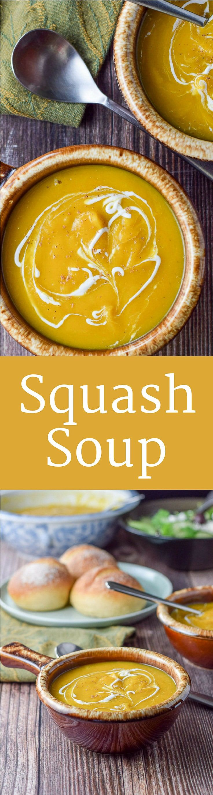 Scrumptious Squash Soup is so thick and hearty that you could make a meal out of it. It's warm and comforting and delicious during the chilly seasons!!  https://ddel.co/squashsp via @dishesdelish