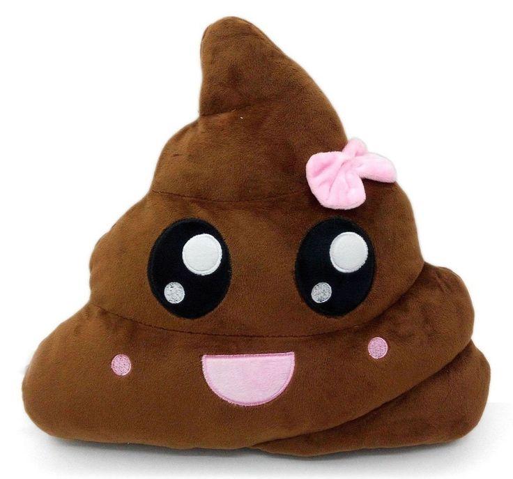 Poop Emoji Pillow Emoticon Stuffed Plush Toy Doll Smiley Cat Heart Eyes Alien...