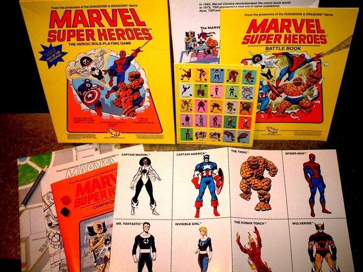 Marvel Super Heroes the Heroic Role-Playing Game by TSR