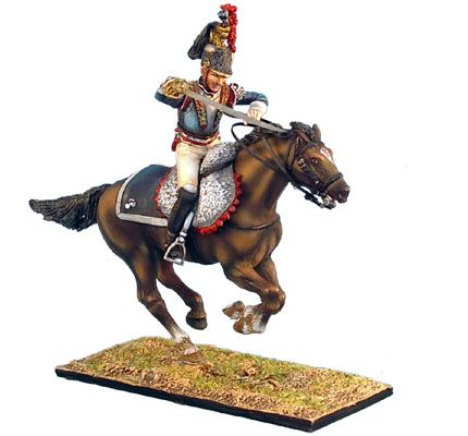 NAP0241 French 5th Cuirassiers Officer Charging