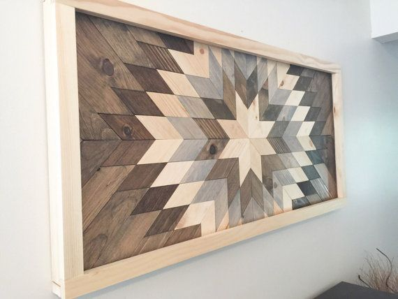This is a handmade wooden wall mosaic made from upcycled wood. Each piece is hand cut and arranged into this beautiful sunburst to be enjoyed for many years to come. We can do this as a wall piece, table top, or headboard. Message us for details regarding pricing for tables and head boards. Dimensions: please read carefully  24 x 48 - for gray and maroon accents, there is an extra burst of dark brown which is the last ring in the burst. This burst will only be in the 24 x 48 pieces, all…