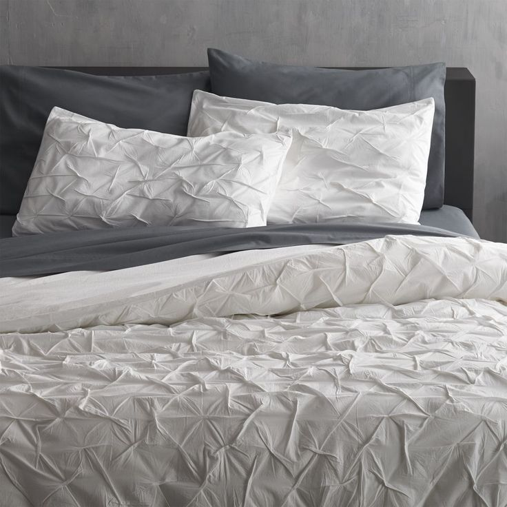 melyssa white full/queen duvet cover