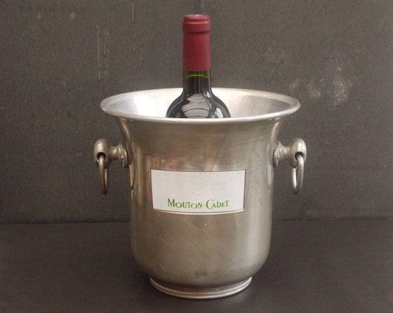 Vintage Seau à Champagne Mouton Cadet par LaMachineaBrocantes