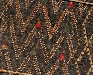 Taniko pattern, huaki cloak with three taniko borders; courtesy of National Gallery or Australia, Canberra (2007.616)