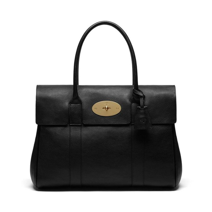 Bayswater in Black Natural Leather With Brass | Women | Mulberry
