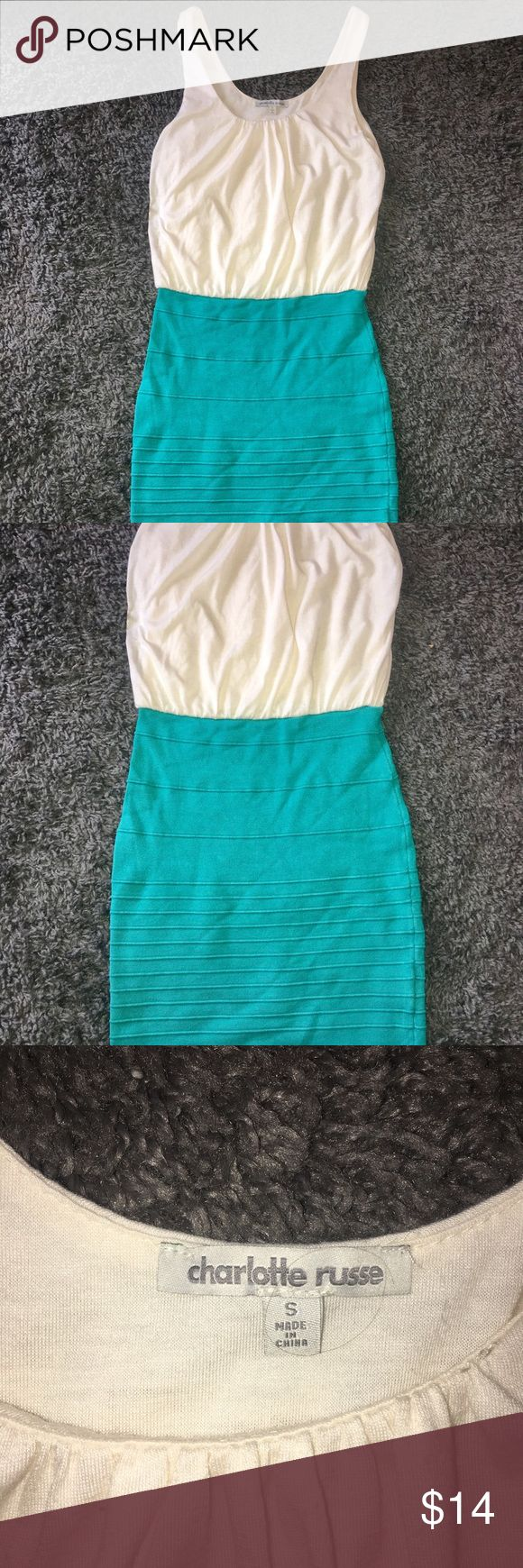 👠Charlotte Russe Teal & Beige Mini Dress SZ S👗 Minimal signs of wear. Please review all of the pictures for more details. Please take your time to view all photos & item description. All clothing is freshly laundered and from a smoke free home. Ready to be shipped, Fast Shipping!! Thanks for looking. Charlotte Russe Dresses Mini