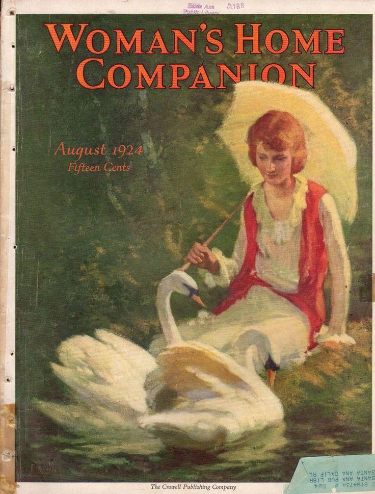 1924 Woman's Home Companion August-Scottie and Puppies; Auto Camping; Coca Cola