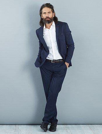 Pantalon de costume slim en twill Homme à 15,00€ - Découvrez nos collections mode à petits prix dans notre rayon Pantalon city.