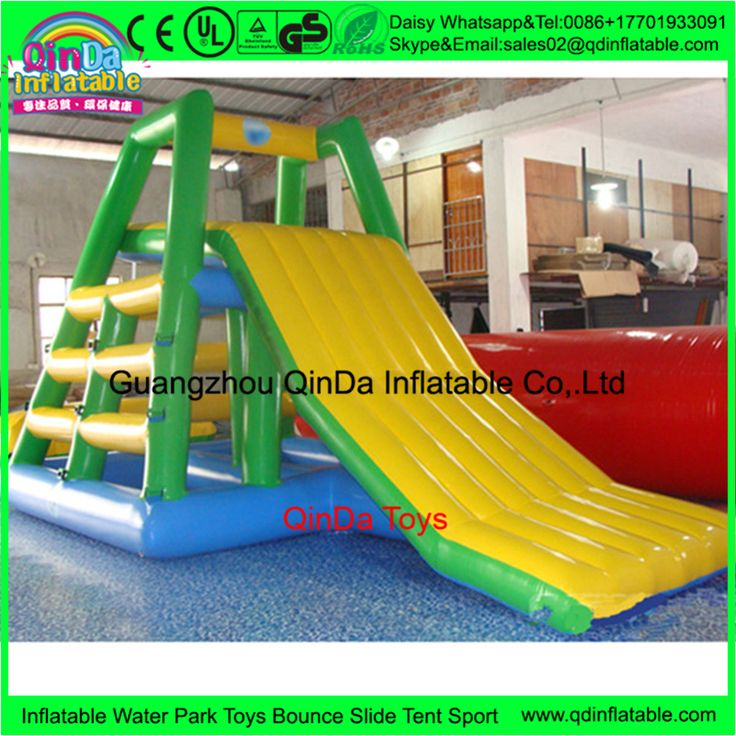 Custom Pool Float  Inflatable Water Slide,0.9mm PVC Water Park Slides