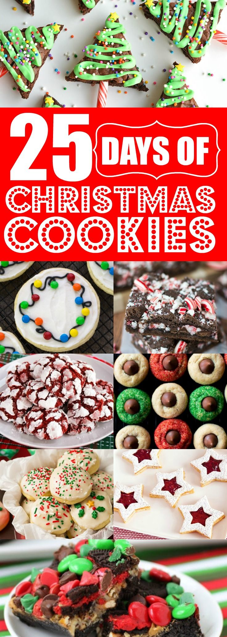 These 25 Christmas cookies are THE BEST! I'm so happy I found these UNIQUE Christmas cookie ideas! Now I have some great homemade holiday cookies to bring to my next cookie exchange!! Definitely pinning!!