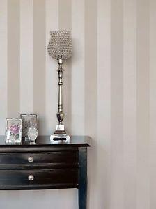 Rasch-Textil-Bistro-Tapete-Vlies-Block-Streifen-creme-beige-Dekor-Deko-326109