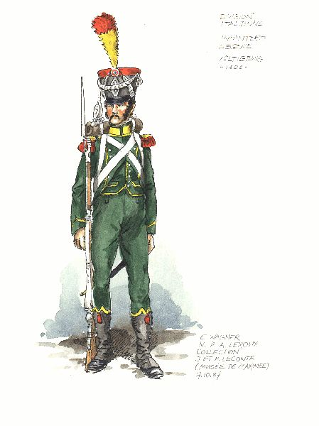 Italian Division in Spain 1808. Voltigeur of Light Infantry(not certain if 1st or 2nd Regiment)