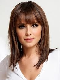 cheryl cole  long bob with fringe