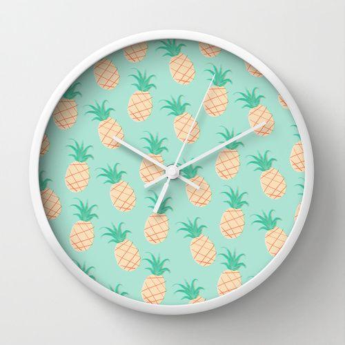 pineapple wall clock products wall clocks and clock