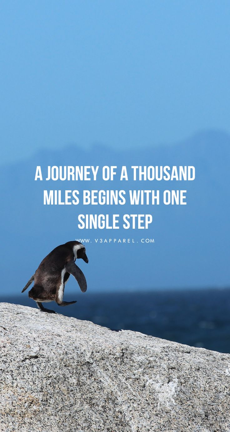 A journey of a thousand miles begins with one single step. [Right click and select 'Save As' to download] // Free Motivational Phone Wallpaper from www.V3Apparel.com #Motivation #Inspiration #Quotes #Fitness