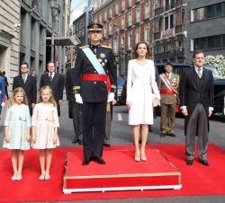 casareal:  Installation of King Felipe, June 19, 2014-Infanta Sofía, Infanta de los Asturias Leonor, King Felipe VI, Queen Letizia