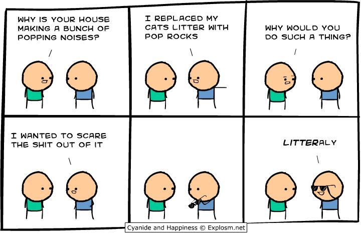 LITTERaly...Good Ideas, Poprocks, Pop Rocks, Cyanide, Happy, Funny Stuff, Humor, Comics, Giggles