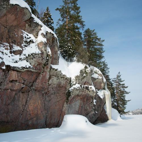 Salmijärven Lautmäen kalliomaalaukset, sijainti, klikkaa kuvaa