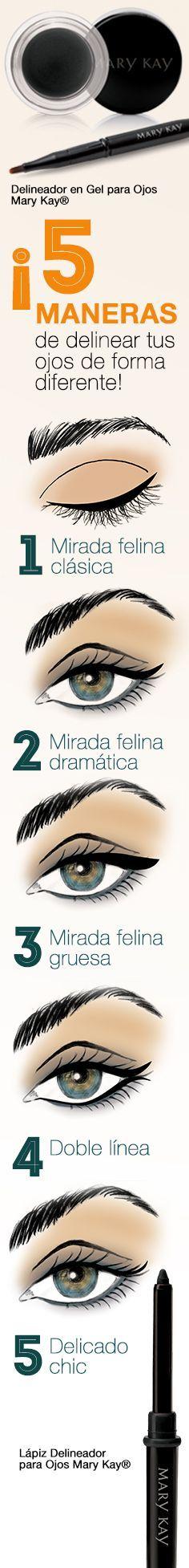 """Deja que tu mirada hable por ti probando diferentes maneras de maquillarte los ojos con el Delineador en Gel para Ojos Mary Kay® y el Lápiz Delineador para Ojos Mary Kay®. Consíguelos en: <a href=""""http://www.marykay.com.co"""" rel=""""nofollow"""" target=""""_blank"""">www.marykay.com.co</a>"""