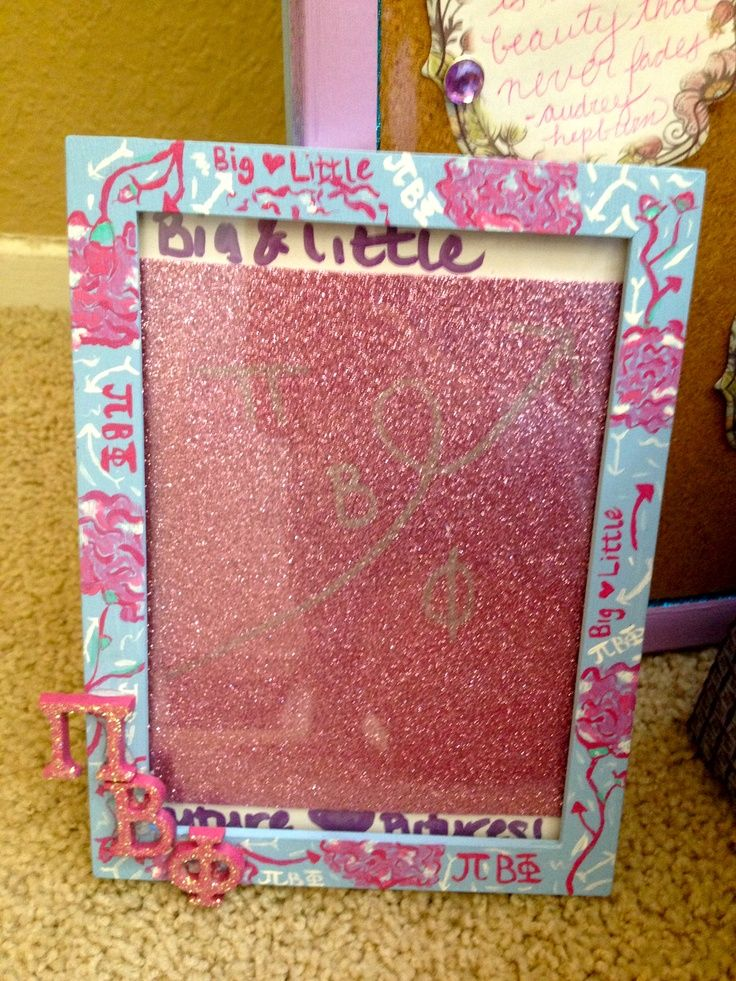 pi beta phi lilly pulitzer print picture frame craft