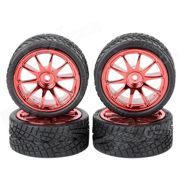 1: 10 On-Road Flat Run R/C Car Soft Tires - Black + Red (4 PCS). Brand N/A Model 6001-8001 Quantity 4 Piece(s)/pack Color Black + red Material Plastic Compatible device 1:10 Scale Functions Parts replacement Other Feature Tires Diameter: 65mm; Tires width: 26mm; Wheel Diameter: 52mm; Wheel Width: 26mm; Drive Hex: 12mm Packing List 4 x Tires. Tags: #Hobbies #Toys #R/C #Toys #Other #Accessories
