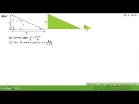 Matematik 5000 Ma 2b   Kapitel 3   Några bevis med likformighet   3260