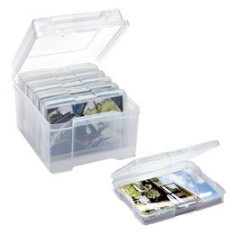 Bought two of these last week - perfect storage solution for those stacks of pics.  One reason I never get pics printed is bc I know I won't have the time to properly put them in albums or display them.  Now I just print a stack, pop it in the box, and label it.