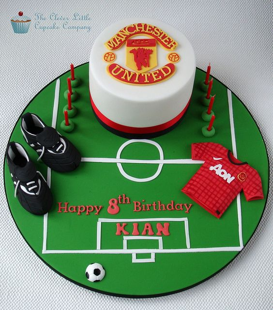 Manchester United Cake by The Clever Little Cupcake Company (Amanda), via Flickr