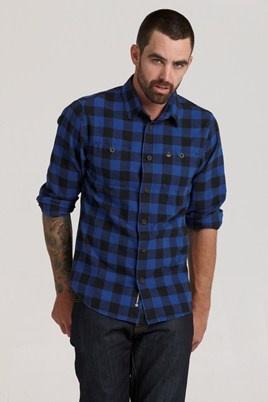 1913 Check Shirt - Blue #barkers #swanndri