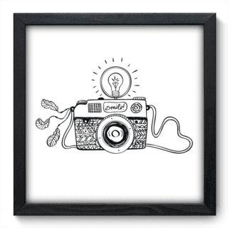 Quadro Decorativo - Máquina Fotográfica - 047qdv                                                                                                                                                     Mais
