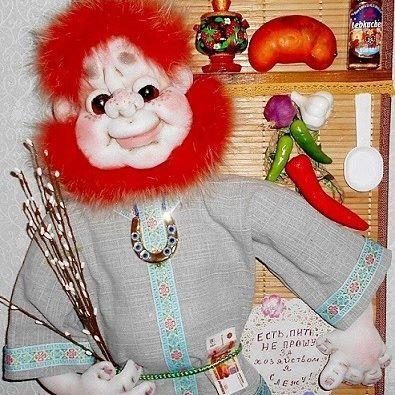 """Панно """"Озорной домовой"""" 30 см на 40 см. #продамкуклу  #купитькуклу  #кукланазаказ  #текстильнаякукла  #портрет  #дом #подарок"""