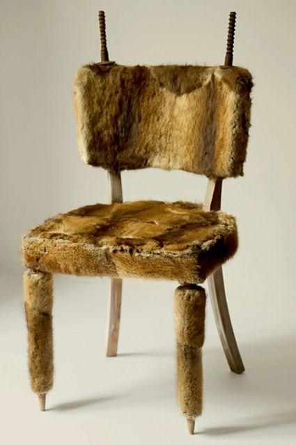 IBEX - wood, fur, iron
