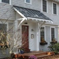 Planning Front Porch Awnings : Entrancing Image Of Small Front Porch Decoration…