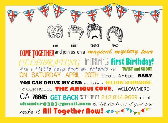 CUSTOM Birthday // A Beatles Party Suite // by KateZarembaCompany, $24.00
