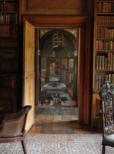 "View of a corridor by Samuel Van Hoogstraten, taken in Dyrham Park Mansion. By Stephen Abbott on Flickr ~ ""Doorway to another time. http://www.nationaltrust.org.uk/dyrham-park/ """