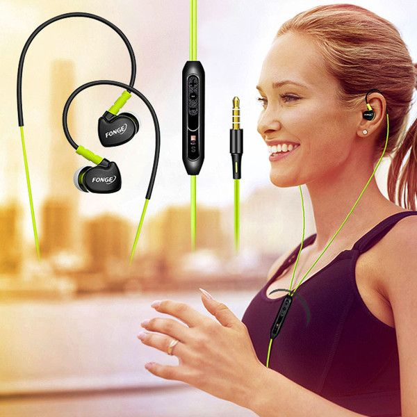 Original Sport Headphones 3.5mm In-Ear Earbuds Earphones Stereo Super Bass Headset with MIC for iPhone Samsung Phones MP3 MP4