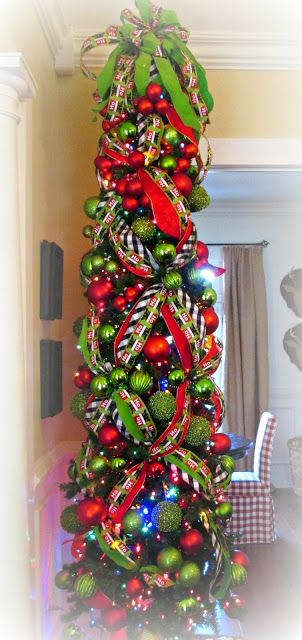 1800 Farmhouse Rd : December 2013, LOVE the crisscross ribbon for my pencil tree!                                                                                                                                                                                 More
